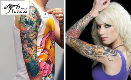 95% off on 20 sq inch permanent tattoo